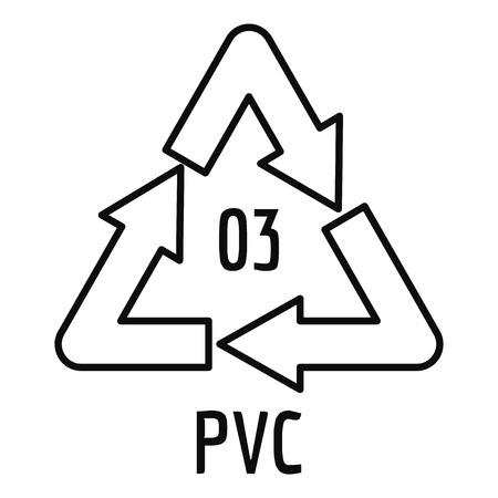 Pvc sign icon, outline style Stockfoto - 111176754