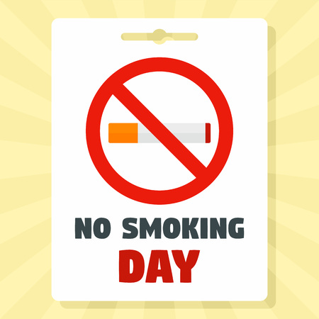 No smoking day concept background, flat style Stock Photo