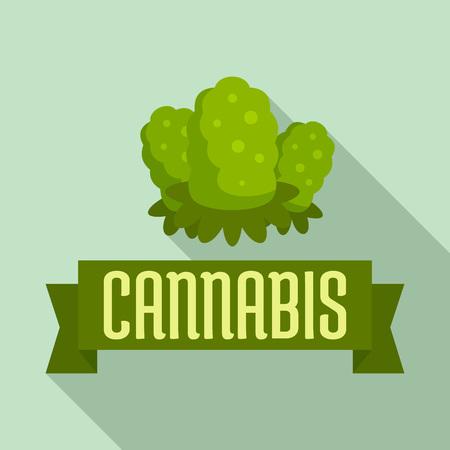 Cannabis seed flat style Stock Photo