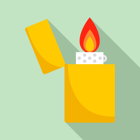 Lighter icon, flat style