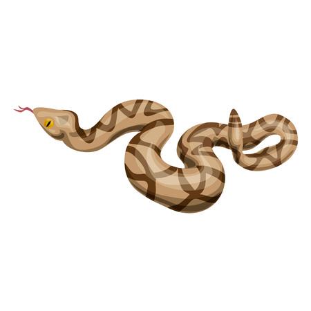 Rattlesnake icon, cartoon style