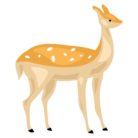 Female deer icon, cartoon style Stock Photo