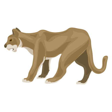 Lioness icon, cartoon style Stock Photo