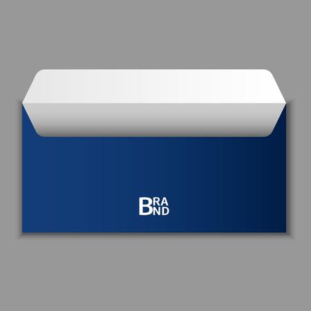 Open blue envelope icon, realistic style