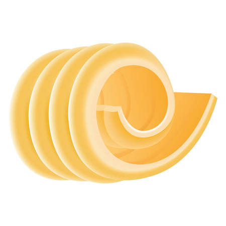Curl butter icon, realistic style