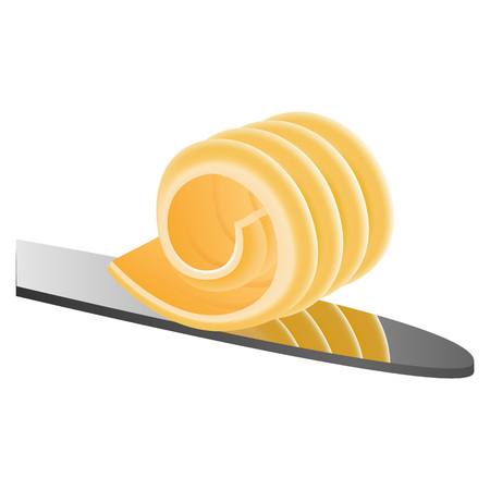 Butter on knife icon, realistic style Stockfoto - 111214508