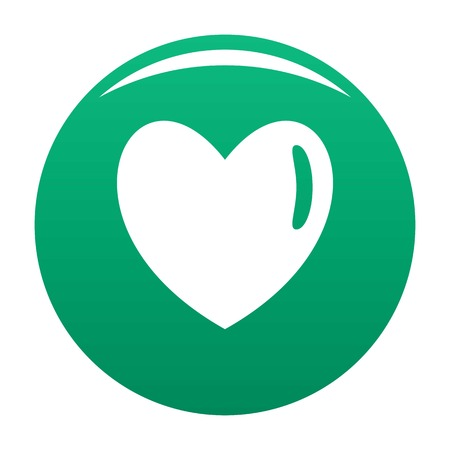 Warm human heart icon green