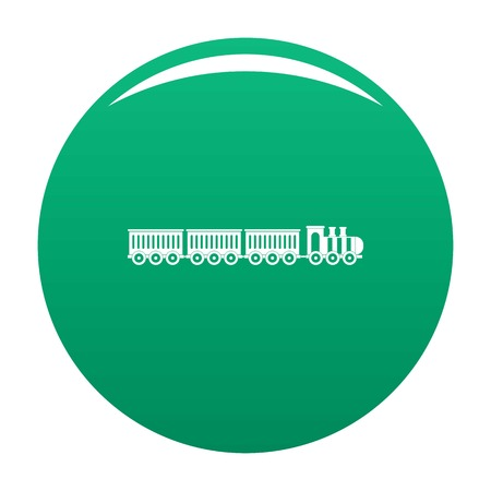 Sedentary train icon green Imagens