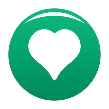 Magnanimous heart icon green