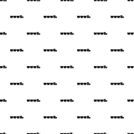 freight wagons pattern seamless vector