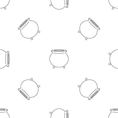Retro cauldron pattern seamless vector repeat geometric for any web design Illustration