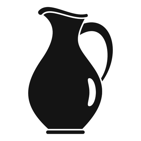 Water jug icon. Simple illustration of water jug vector icon for web design isolated on white background