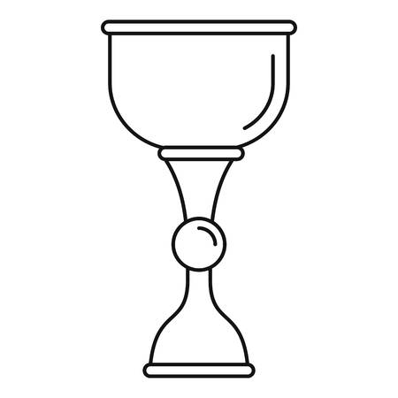 Gold jewish cup icon, outline style