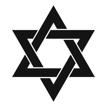 David star icon, simple style