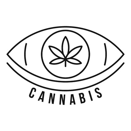 Cannabis eye outline style