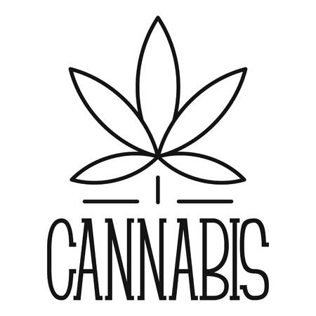 Cannabis leaf  outline style