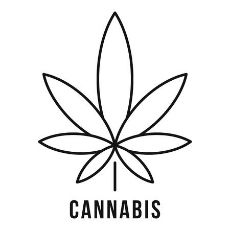 Style de contour de feuille de cannabis frais