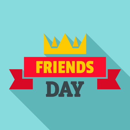 Crown friends day   flat style Illustration