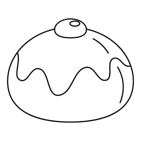 Jewish sweet bakery icon, outline style