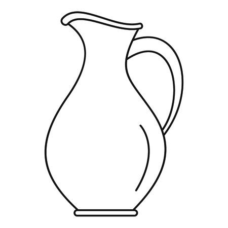 Icône de cruche d'eau. Contours cruche d'eau icône vecteur pour la conception web isolé sur fond blanc