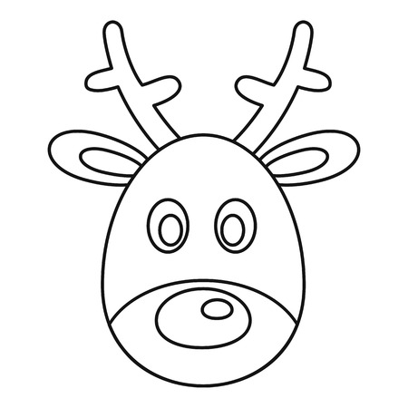 Deer head icon, outline style