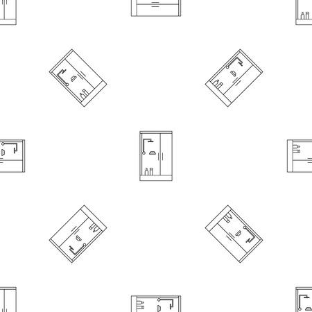 Shower bath cabine pattern seamless repeat geometric for any web design Banco de Imagens
