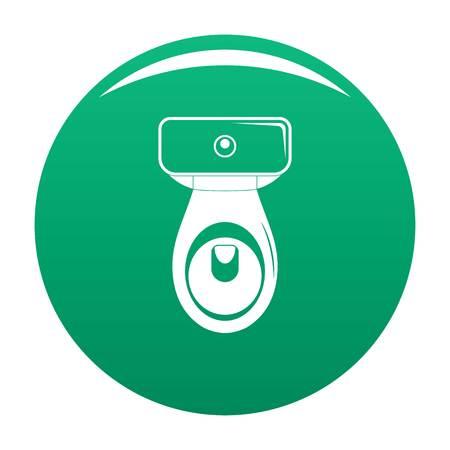 Restroom icon green Stock Photo