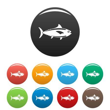 Tuna fish icon, simple style