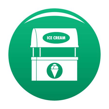 Ice creme selling icon green Stockfoto