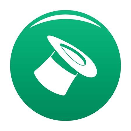 Inverted hat icon green 版權商用圖片