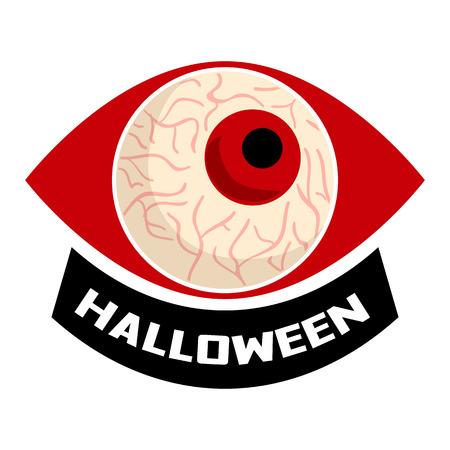 Halloween eyeball   cartoon style Stock Photo