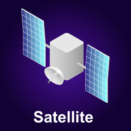 Satellite icon, isometric style Banque d'images