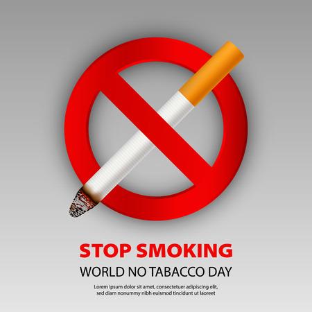 Stop smoking concept background, realistic style Standard-Bild