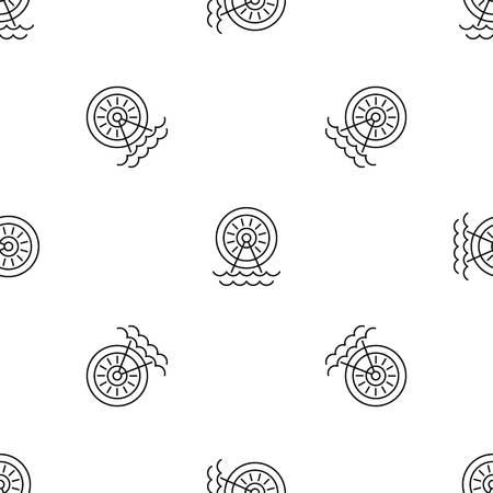 Water energy wheel pattern seamless Standard-Bild