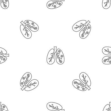 Bronchitis lungs pattern seamless