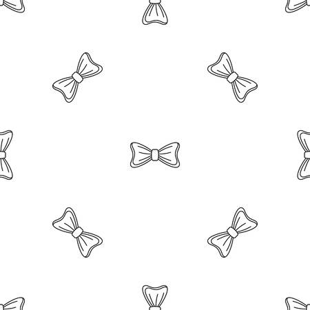 Bride bow tie pattern seamless