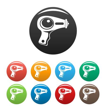 Water pistol icons set color Stockfoto