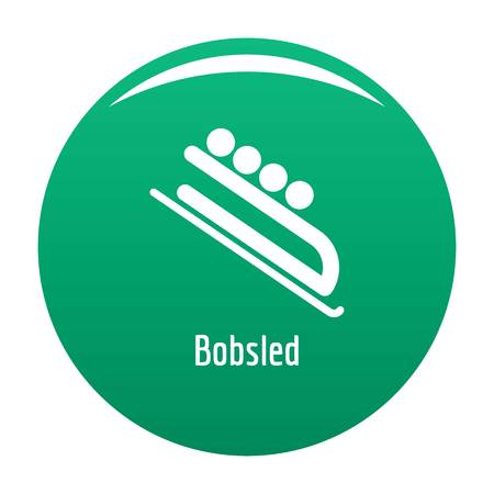 Bobsled icon green