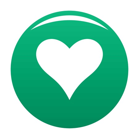 Affectionate heart icon green