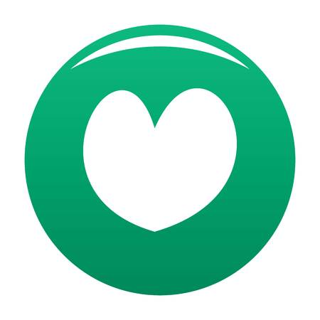 Reliable heart icon green
