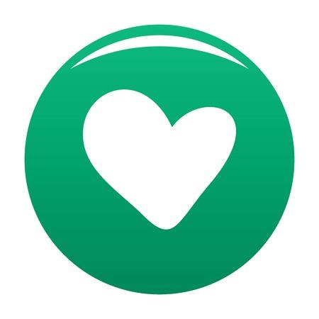True heart icon green
