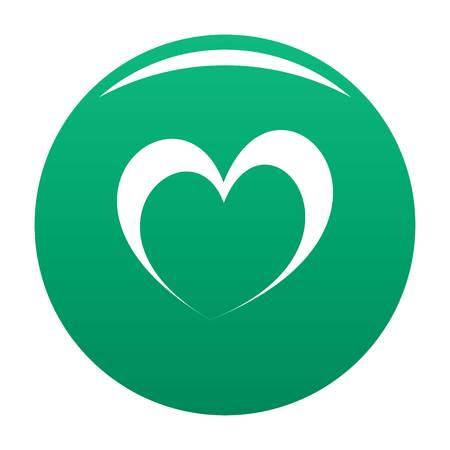 Frantic heart icon green
