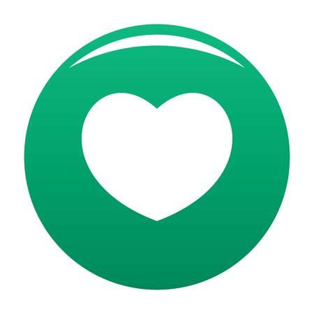 Sympathetic heart icon green Stock Photo