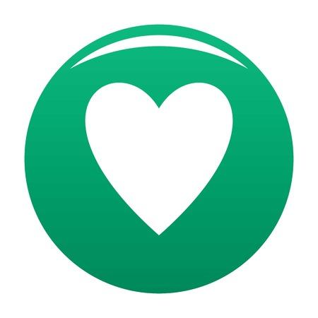 Open heart icon green Stock Photo