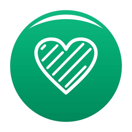 Simple heart icon green