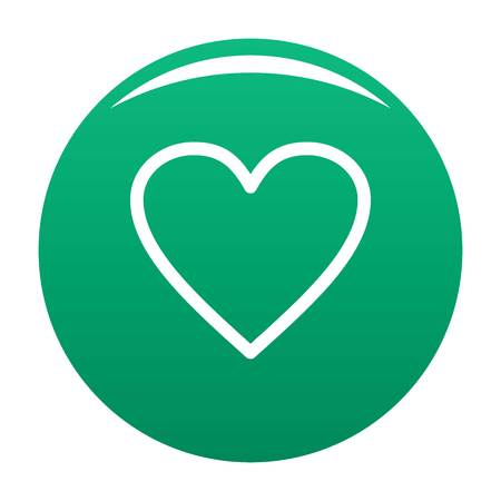 Ardent heart icon green
