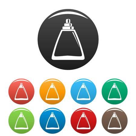 Deodorant bottle icons set color