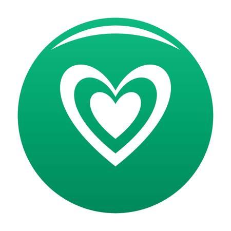 Masculine heart icon green Stock Photo