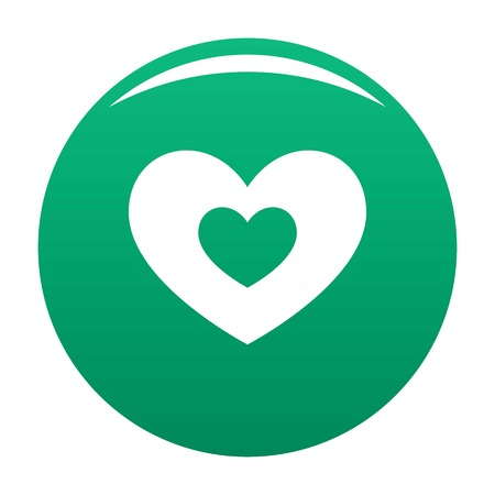Double heart icon green