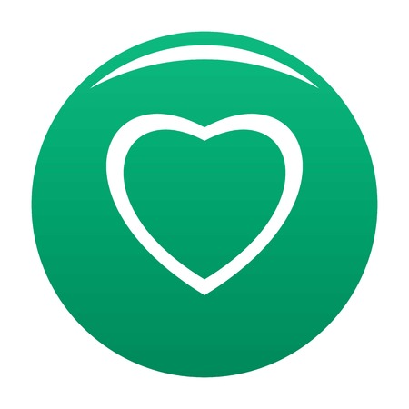 Fearless heart icon green